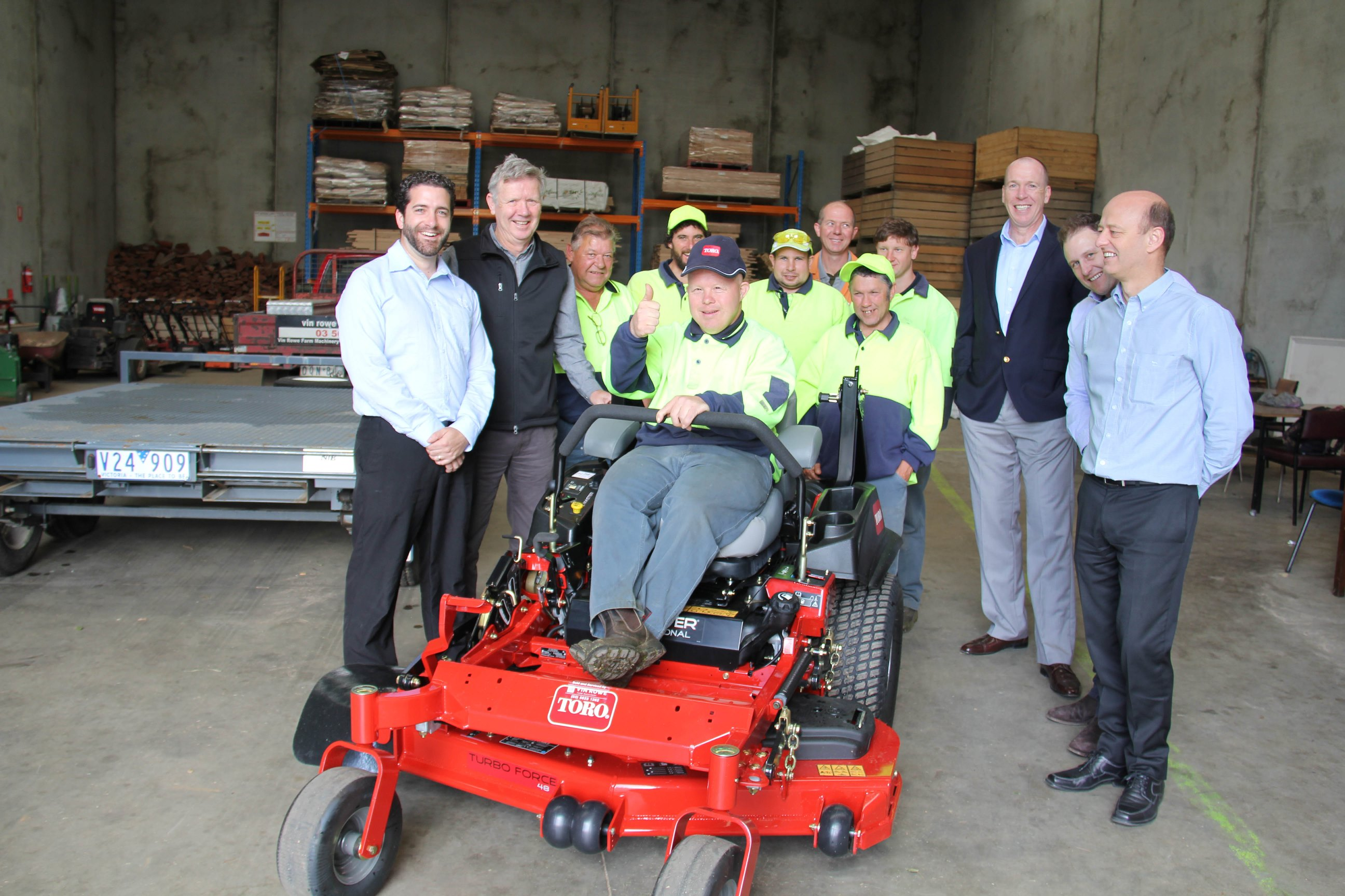 New ride-on for Mawarra's Waratah grounds maintenance crews.