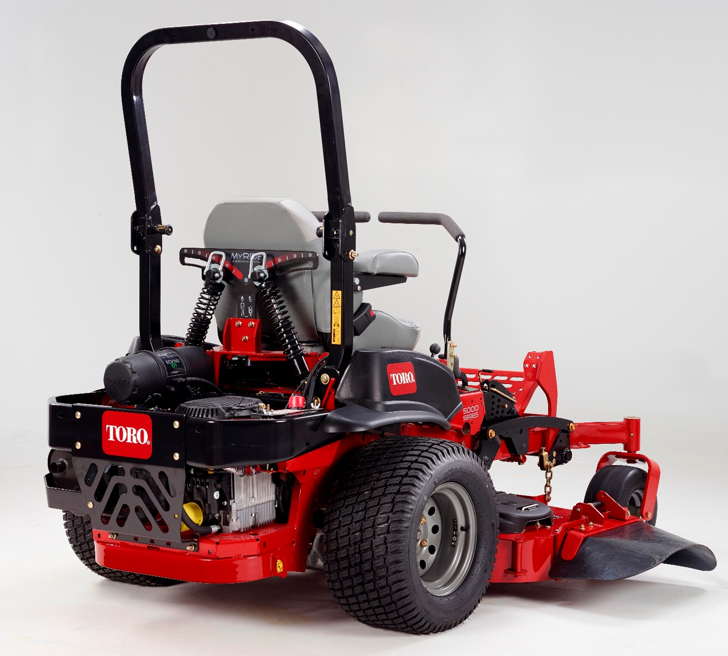 If you spend long hours mowing, you will want to try the Toro MyRIDE suspension system!