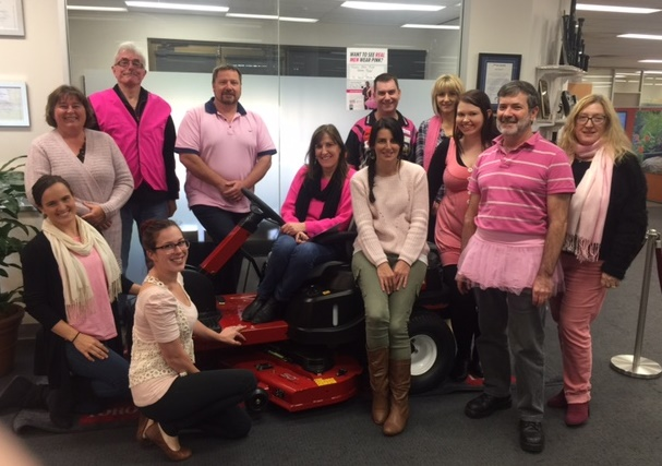 Toro staff wear pink to support National Breast Cancer Foundation