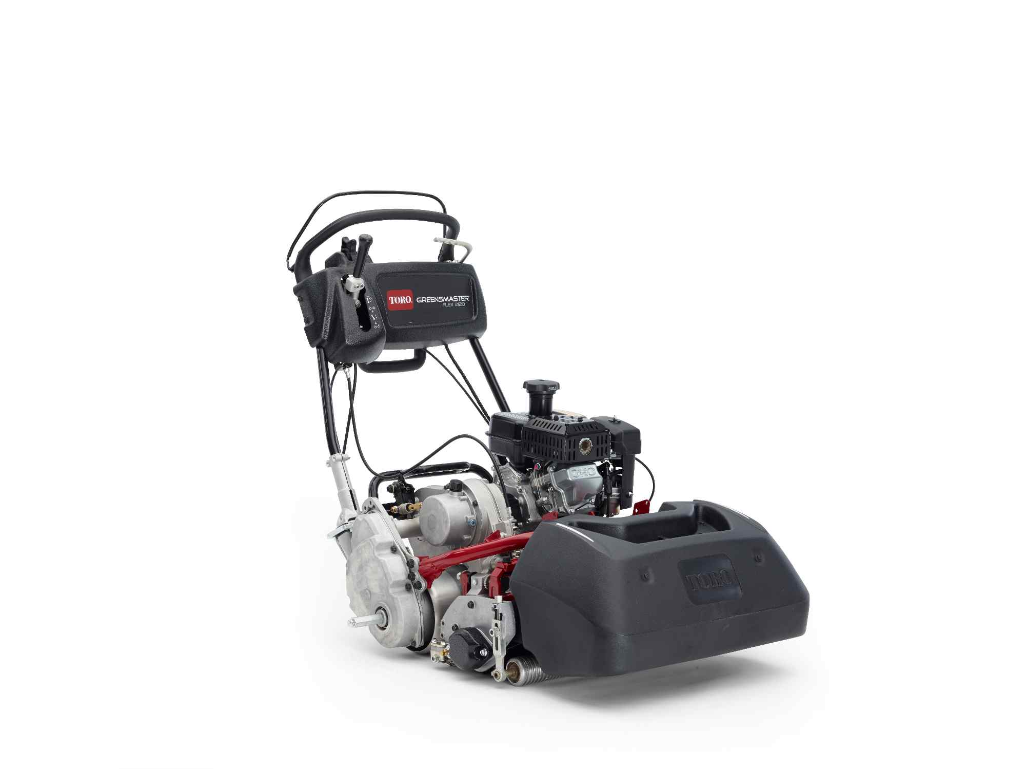 The new Toro® Greensmaster Flex™ 2120 provides a precise cut and easy operation
