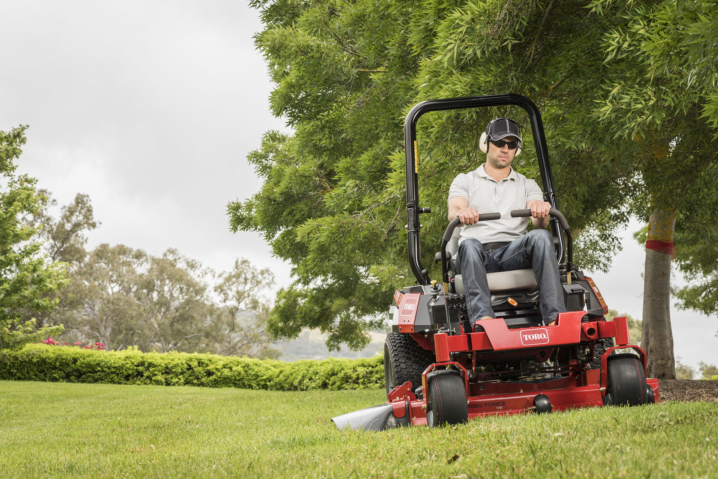 Introducing the new Toro Titan® HD mower with tool carrying versatility