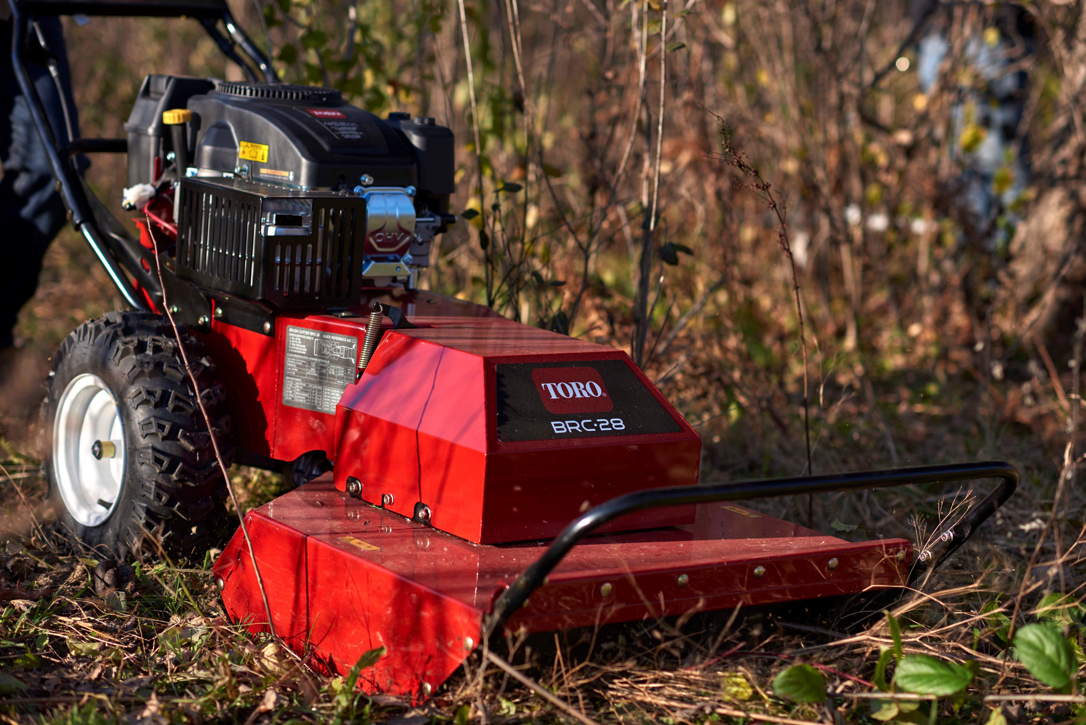 Cut heavy vegetation, tall weeds & saplings with Toro's new self-propelled Brush Cutter BRC-28