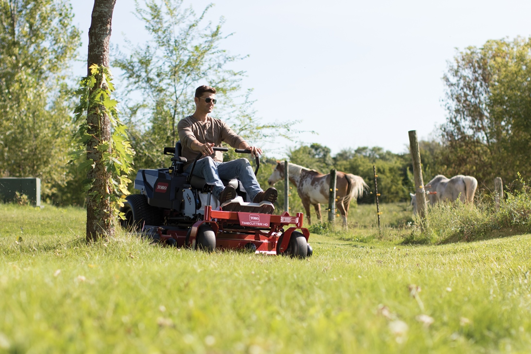 New Toro® TimeCutter® HD: Fast. Comfortable. Heavy-duty.