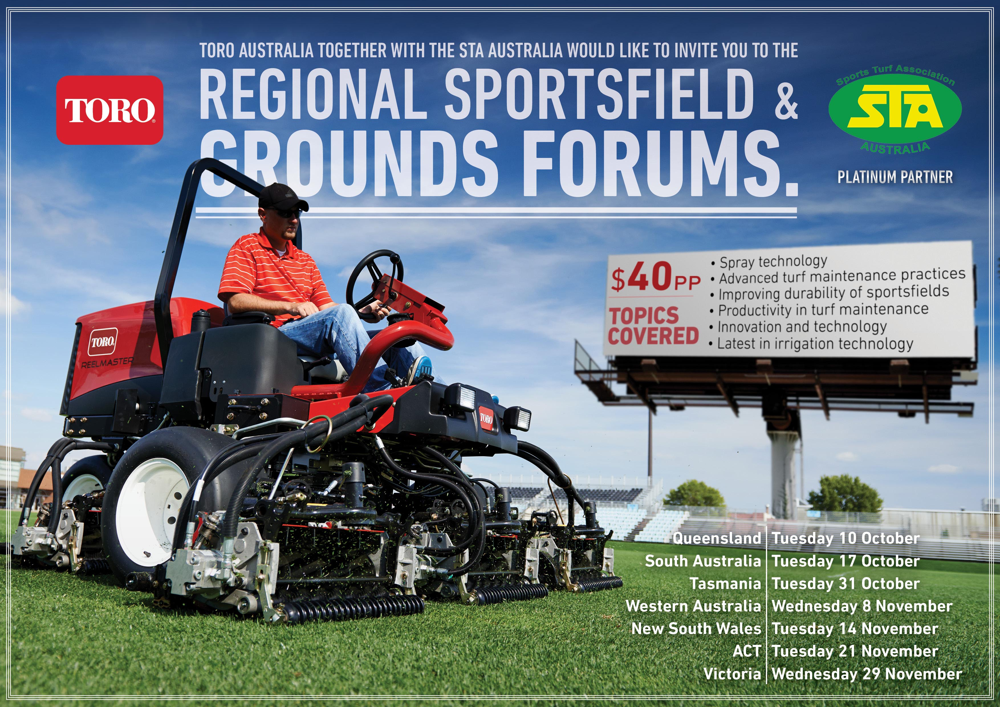 Regional Sportsfield & Grounds Forums to be held around Australia
