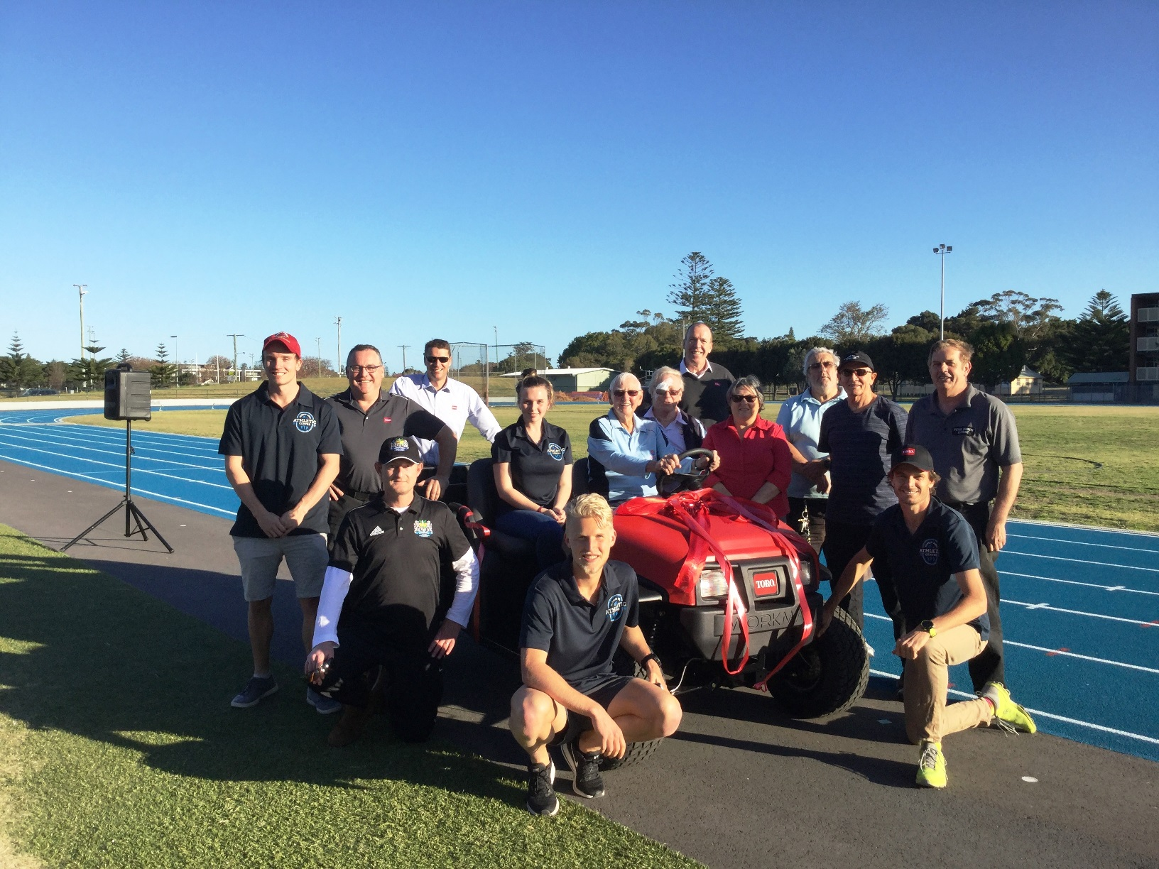 Fearnley Dawes Athletics track receives new Workman MDX from Toro Giving Program