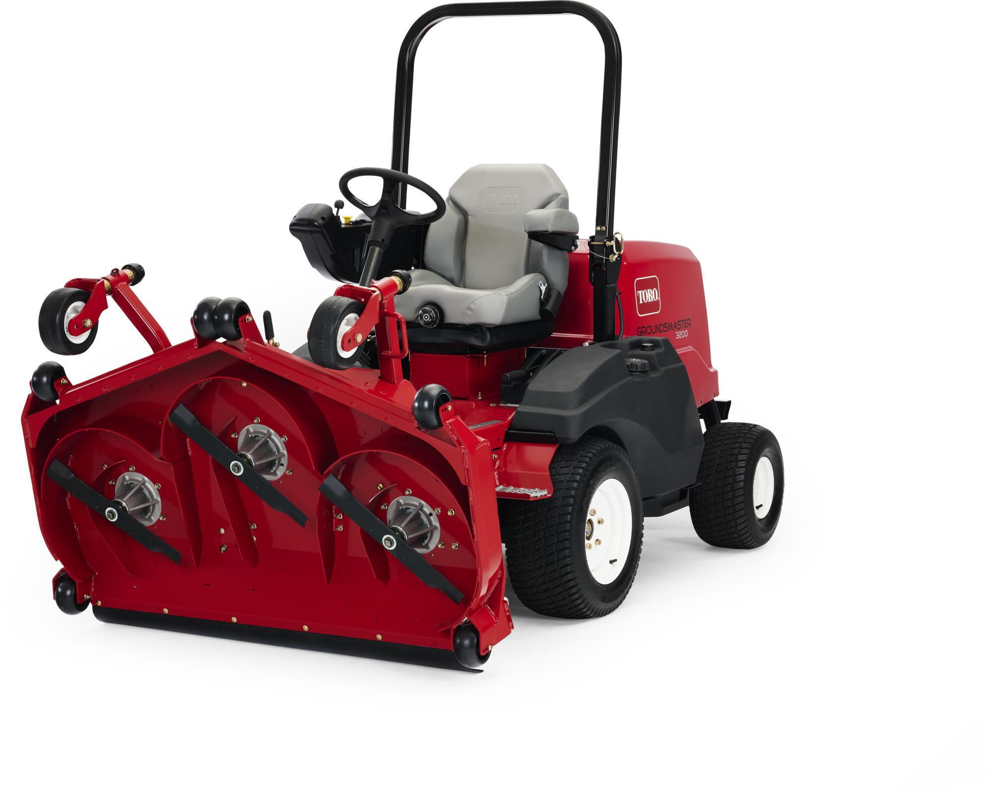 The new Toro Groundsmaster® 3000 Series Out-Front mower