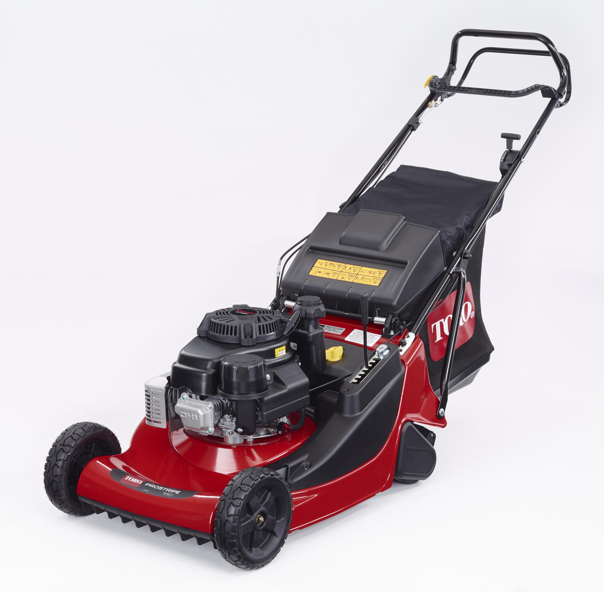 The new Toro ProStripe 560 mower provides both quality of cut and a clean striped finish